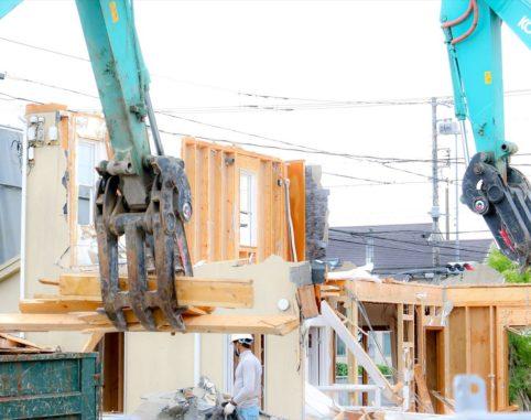 竹の山ショールームの解体と、モデルハウスの紹介。